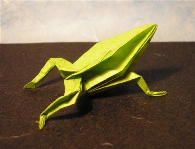 einfachen frosch falten